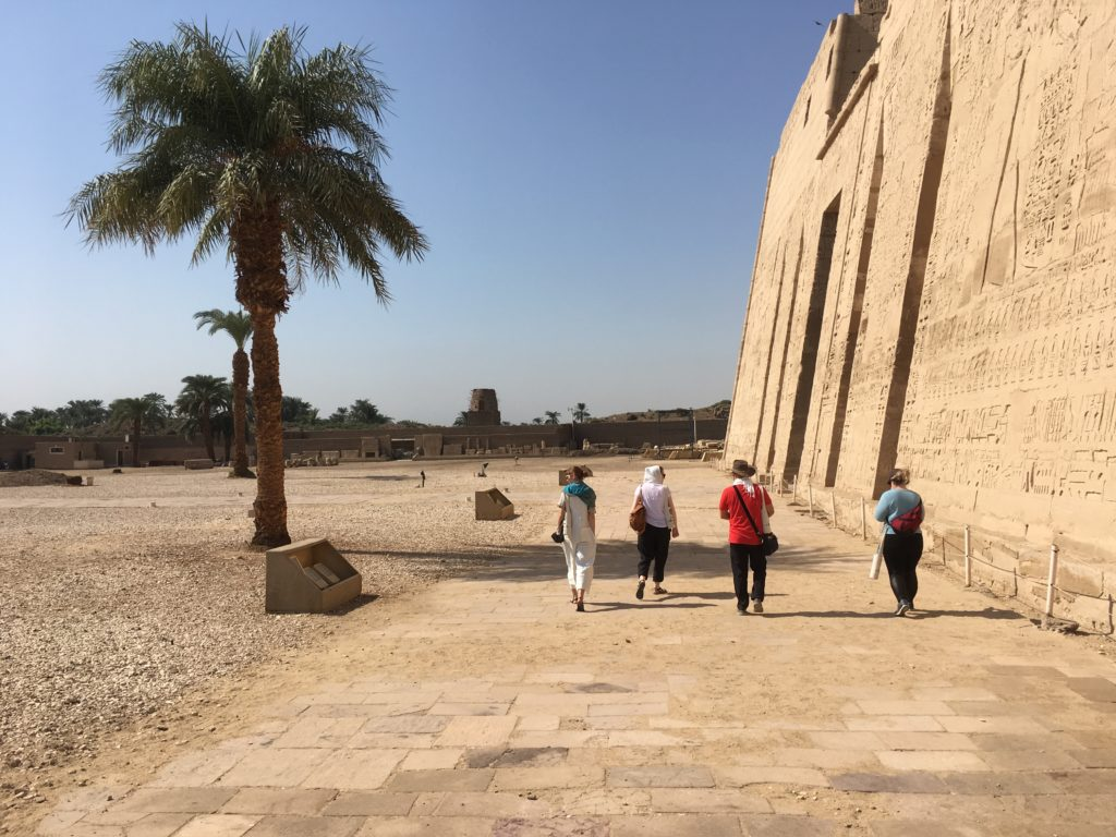 Exploring the majestic memorial temple of Ramesses III at Medinet Habu (Photo: Nile Scribes)