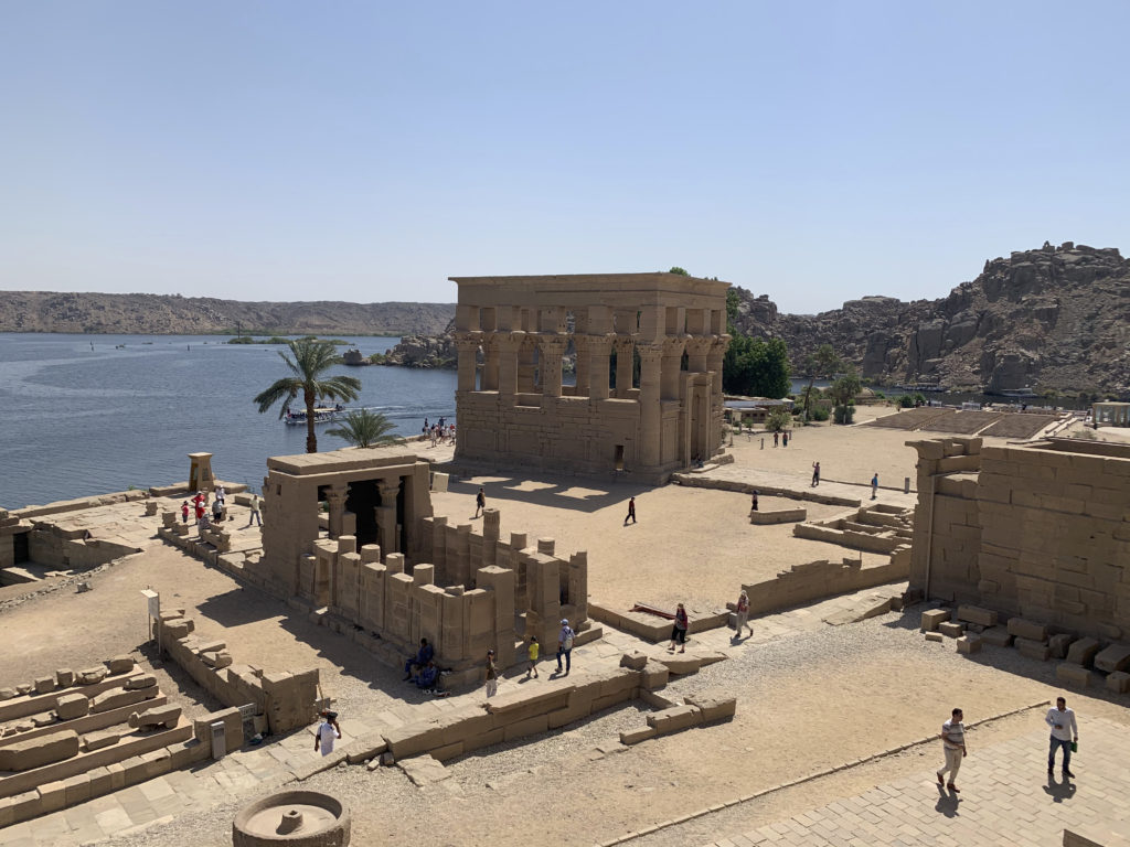 """One had marvellous views of the surroundings of Philae with """"Trajan's Kiosk"""" at the top of the photo one such great example (Photo: Nile Scribes)"""