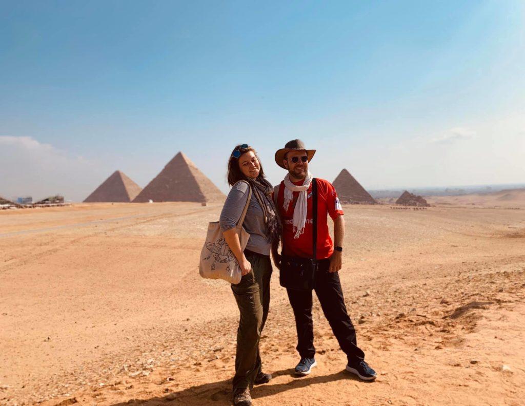 Taylor and Thomas at Giza (Photo: Jessica Hoskins)