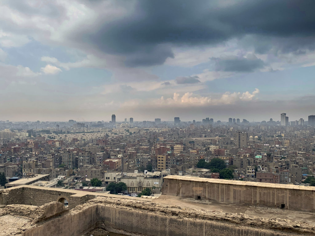 The Citadel allows for some amazing views of Cairo's skyline - can you make out the very faint outlines of the Giza Pyramids in the background? (Photo: Nile Scribes)